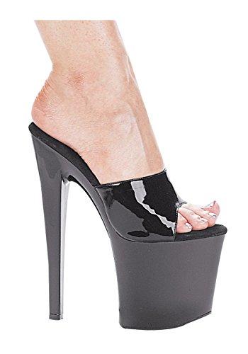 Ellie Shoes E-821-vanity 8 Heel Mule Sandaal. Zwart