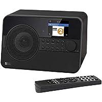 "Ocean Digital WiFi/Bluetooth/DAB Internet Radio WR238CD Radio Antenna with FM Receiver, 26,000+ Radio Stations, Desktop Alarm Clock, UPnP & DLNA, Aux-In, 2.4"" TFT Display - Black"