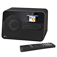 Ocean Digital Wifi Bluetooth Internet DAB Radio WR238CD - DAB/DAB+/FM - 26,000 Radio Stations - Radio Antenna Tuner, Bluetooth Receiver with Aux-in - Alarm Clock, 2.4inch Display - Black