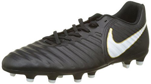 (Nike Tiempo Rio IV (FG) Mens Firm-Ground Soccer Cleats (7) Black/White)