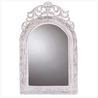 20  Shabby Chic Wood Arched-Top Wall Mirror
