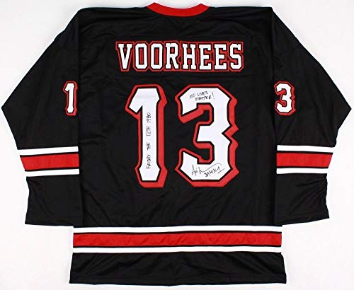 Ari Lehman Autographed Friday The 13th Jersey (Jason Voorhees) - w/Photo From -