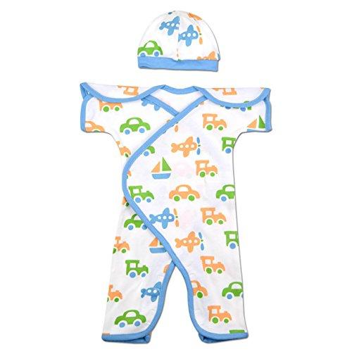 Perfectly Preemie Short-Sleeve Nic-Jumpsuit - NICU Approved (Let's Go, Preemie (3-6lbs))
