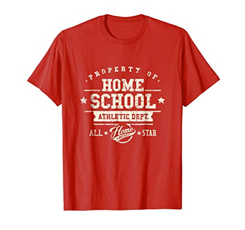 Mens Homeschool Athletic Dept. Home School T-Shirt Large Red