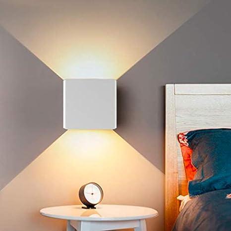 Lampada da Parete Moderna 10W 3000K, Hommie Applique da Parete Alluminio  Impermeabile per Camera da Letto, Soggiorno, Corridoio, Luce Bianca Calda-  ...