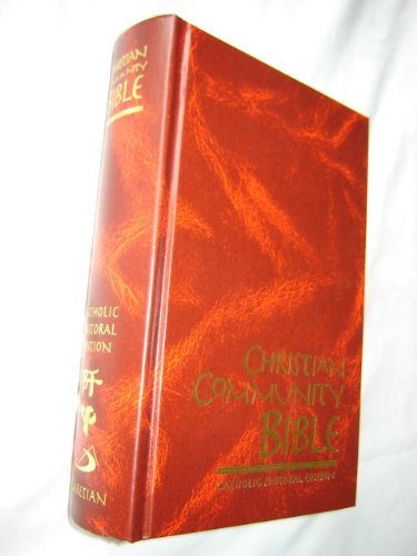Christian Community Bible BURGUNDY / Catholic Pastoral Edition Claretian Fourty-seventh Edition / Color Maps, Thumb Index