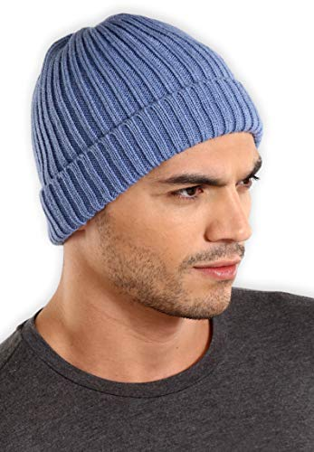 (Tough Headwear Cuff Beanie Watch Cap - Warm, Stretchy & Soft Knit Hats for Men & Women - Stylish Toboggan Skull Caps - Serious Beanies for Serious Style)
