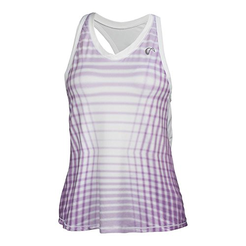 Price comparison product image Athletic Dna - Girls` Racquet Racerback Tennis Tank Lilac and White - (G417-1767H17)