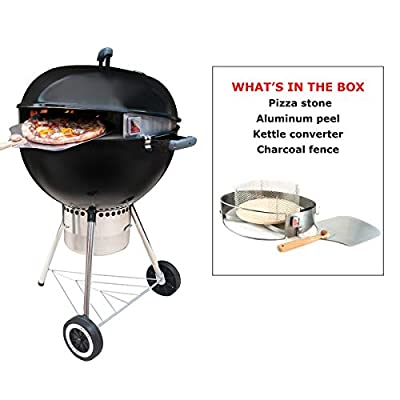 Pizzacraft PC7003 Pizzaque Super Deluxe Kettle Grill Pizza Kit