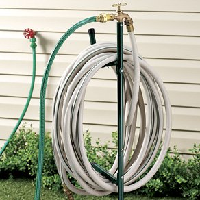 Hose Stand W/ Spigot Brass Faucet Extender 6 Foot Hose Included