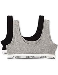Calvin Klein Girls' Big Modern Cotton 2 Pack Classic Crop Bra