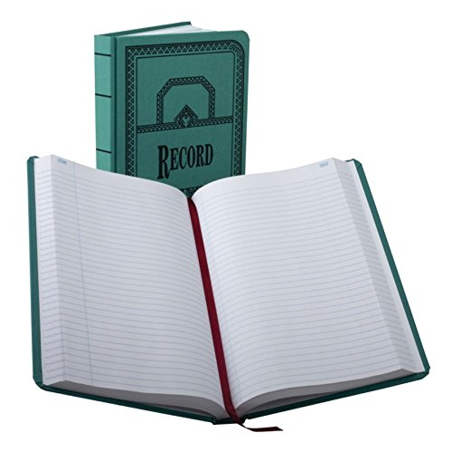 (Boorum & Pease 66500R Record/Account Book, Record Rule, Blue, 500 Pages, 12 1/8 x 7 5/8 )