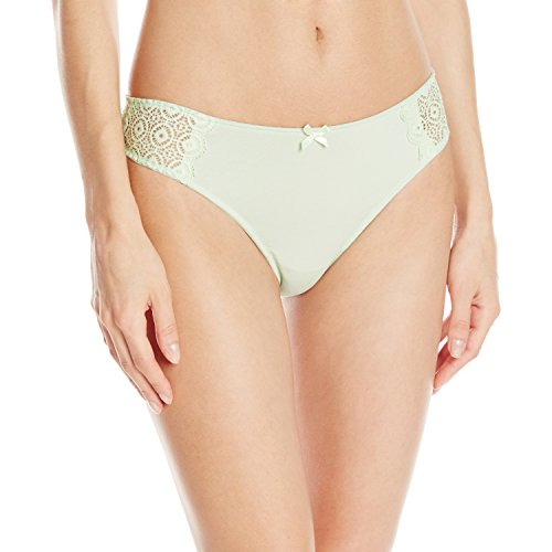 Cosabella Women's Bel Air Low Rise Thong, Snow Pea, One ()