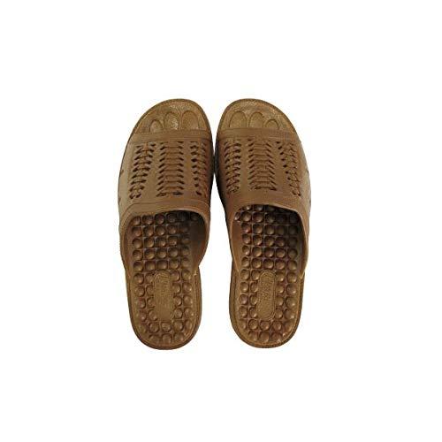 ニッポンスリッパ 成型サンダル 紳士用 M ブラウン 10足組 ファッション 靴 シューズ サンダル その他のサンダル 14067381 [並行輸入品] B07QCCCHCM