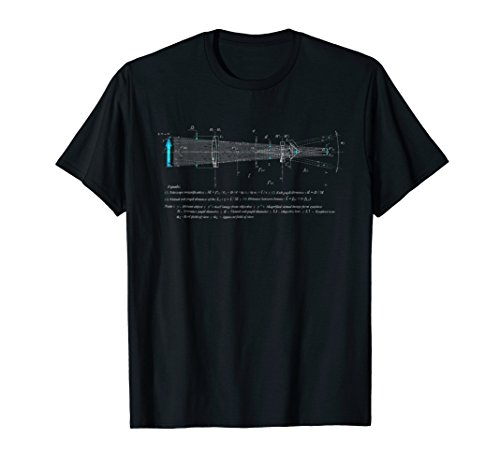 Price comparison product image Astronomy Telescope Diagram Distressed Graphic Shirt