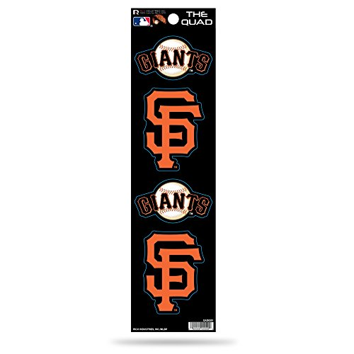 Rico MLB San Francisco Giants Quad Decal (Francisco Giants Decal San)