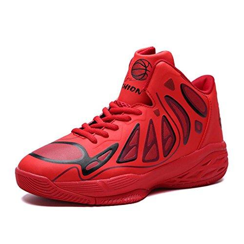 Mens Hombre Cortas New Botas Zapatillas 2018 Size EU para con Zapatillas Deporte Libre de Vestir al Seasons Deporte Zapatillas Balón de Four Alto Aire de New de auxilio Rojo Bxgzqw8g
