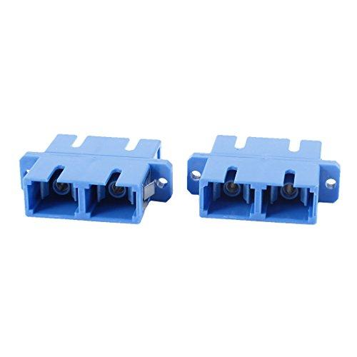 2 Pcs SC to SC Female Fiber Coupler Duplex Mode Optical Connector Female Duplex Fiber Adapter
