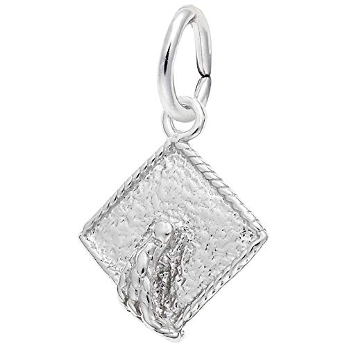 Rembrandt Charms Graduation Cap Charm, Sterling Silver