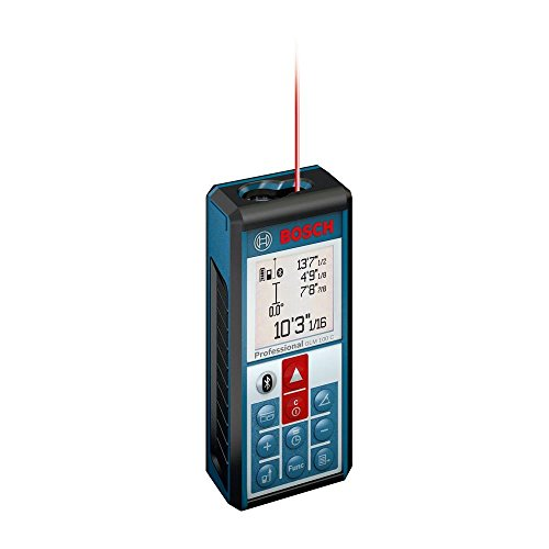 Bosch - Bluetooth Enabled 330 ft. Lithium-Ion Laser Distance and Angle Measure -