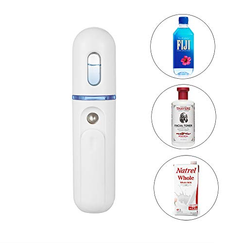 Cool Mist Facial Sauna - Nano Facial Mister, UrChoice Cool Mist 30ml Facial Steamer Handy Mist Sprayer - Support Adding Toner and Pure Milk, Moisturizing & Hydrating for Skin Care, Makeup, Eyelash Extensions