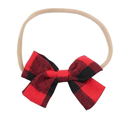 plaid bow baby headband - checkered bow headband - baby headband - buffalo plaid  headband - plaid bow - red and black bow headband - girls headband ... 508675fe460