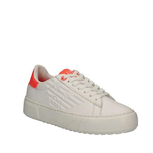 Emporio Armani EA7 Damenschuhe Turnschuhe Damen Leder Schuhe Sneakers classic up