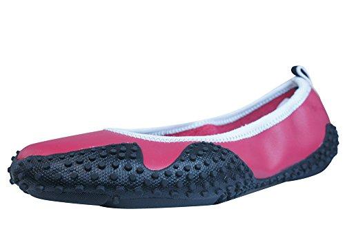 Puma Neo Ballerina L Bombas de cuero para mujer - Zapatos - Rojo Red