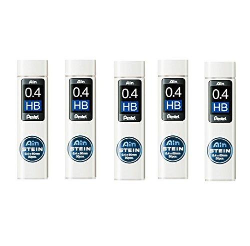 Pentel Ain Mechanical Pencil Leads 0.4mm HB, 5 Pack/total 150 Leads Value Set by Pentel
