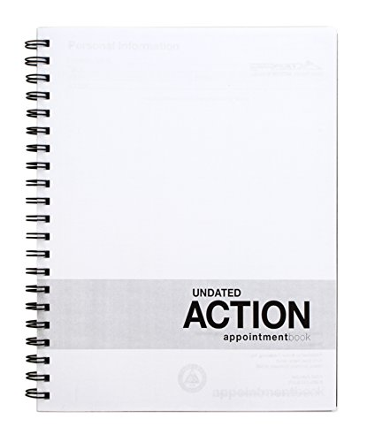 - Action Appointment Book (8.5 x 11 inches) Undated 2 Page Weekly Spreads For Daily and Hourly Schedule Tracking