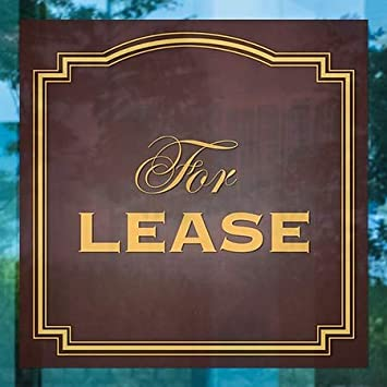 CGSignLab for Lease Classic Brown Window Cling 5-Pack 12x12