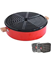 AMAZACER Electric Griddles Barbecue Home Round smokeless Barbecue Stove Outdoor Commercial 3 People -5 People or More Charcoal Barbecue Tray (Color : A, Size : 420 * 145mm)