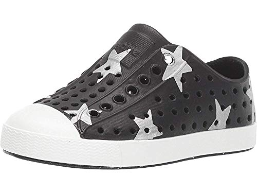 Native Kids Shoes Unisex Jefferson Print (Toddler/Little Kid) Jiffy Black/Shell White/Silver Big Star 4 M US Toddler