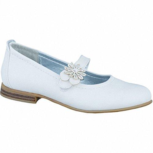 Indigo 424 067, Mädchen Knöchelriemchen Ballerinas, Weiß (White 109), 34 EU