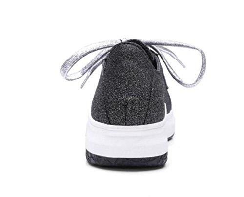 formato EU Flat piede 33 personalizzato 43 a atletica casuali semplice OL il Sandali di piega Black semplici forma 4wOggSq