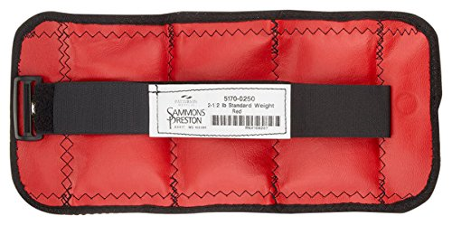 Sammons Preston Cuff Weights, Economy Set, 20 Pieces, 2 Each of 0.25 lb- 5 lb Steel Weights, Velcro Strap & D-Ring Closure, Grommet for Easy Hanging, Exercise Tool for Strength Building & Injury Rehab by Sammons Preston