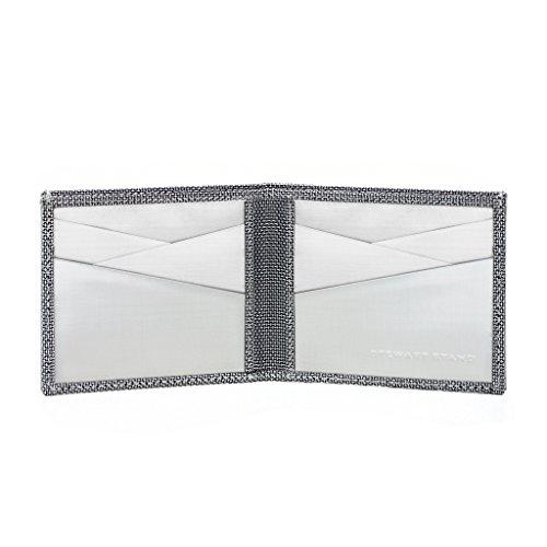Wallet Billfold RFID Stand Secure Stainless Steel Slim Stewart Minimalist Herringbone Blocking for Men fz81wHqx