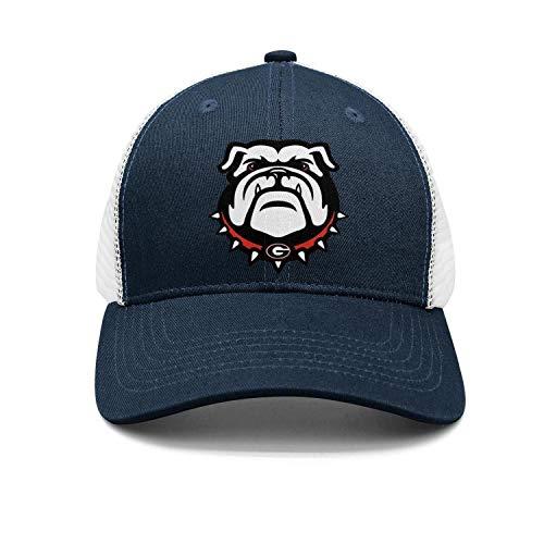 Navy Blue Bulldog - Fashion Baseball Cap Georgia Bulldogs Unisex Golf Hats Navy-Blue