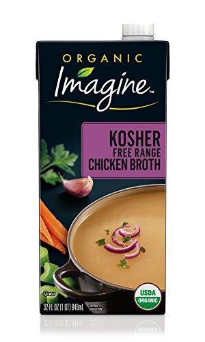 Imagine Organic Kosher Chicken Broth, 32 Fl Oz (Packaging May Vary) Kosher Stock