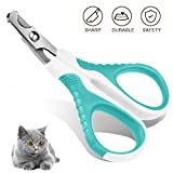 Aritan Professional Pet Cat Nail Clipper Scissors Trimmer for Cats - Rabbits and Small Animals - Cat Claw Clippers Scissors - Stainless Steel - 25 Degree Curved Design - Paw Grooming