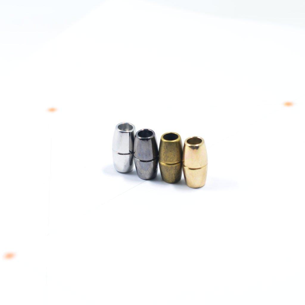 MagiDeal 5er Set Kette Magnetverschluss Verschluss Magnet Kettenverschluss runde Magnetverschl/üsse f/ür Armband Halskette Bronze