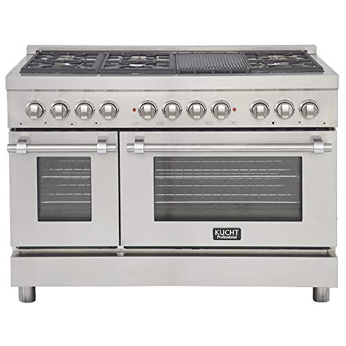 Kucht KPD481F Professional 48 in. 6.7 cu. ft. Dual Fuel Range, Stainless-Steel
