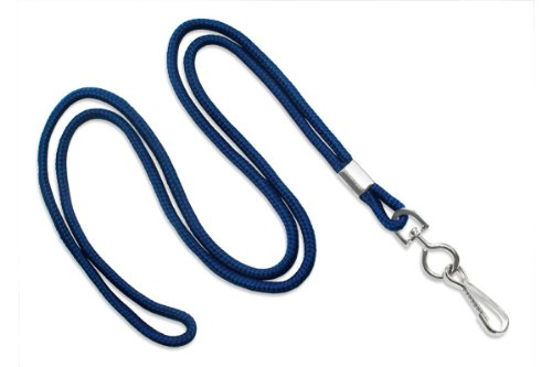Brady People ID 2135-3003 Round Standard Lanyard with Nickel-Plated Steel Swivel Hook, 1/8
