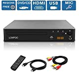 LONPOO All Region Free DVD Player,Compact HD DVD CD