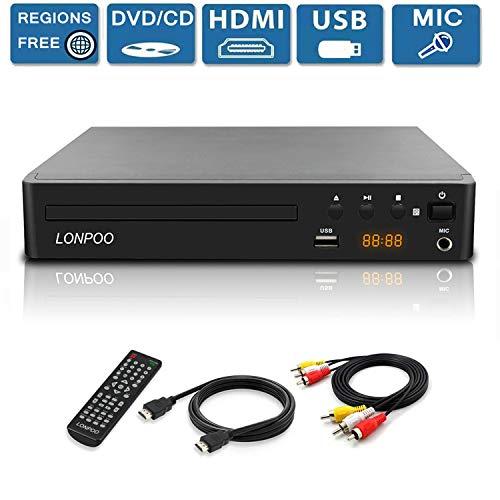 Region Free DVD Player for TV,...