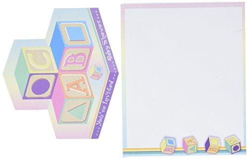 Darice Baby Block Shower Invitation and Envelopes