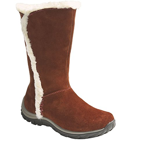 Patagonia Winter Boots - Patagonia Women's Suede Leather Shearling Insulated Midcalf Brown (7)