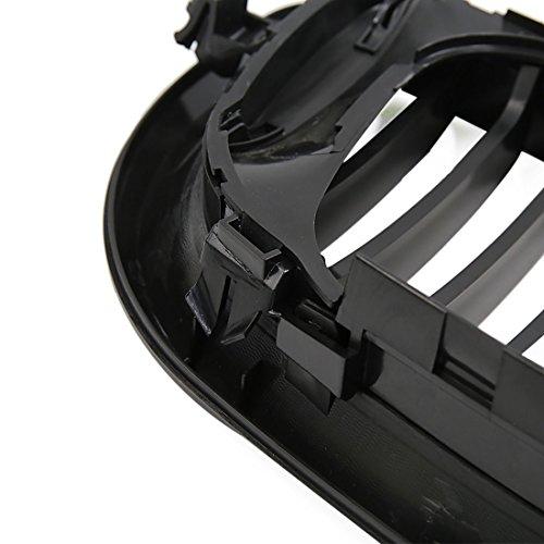 uxcell Matte Black Front Hood Kidney Grille Grill Fit For 02-05 BMW E46 4D Sedan 318i 320i 323i 328i