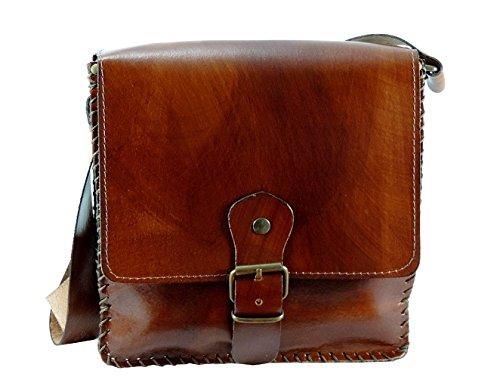 Borsa Donna Vera pelle 100% CUOIO con tracolla artigianale MADE IN ITALY modello MUFFIN