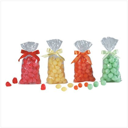 4Pk Assorted Fruit Scented And Shape Potpourri Wax Chip